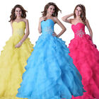 Strapless Evening Prom Quinceanera Birthday Party Ball Dresses Gown Grace Karin