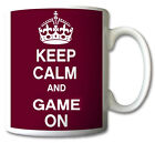 Keep Calm and GAME ON Mug Cup Gift Retro