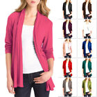 Womens Long Sleeve Cardigan Ladies Jacket with Pockets Size S M L XL XXL ac1122