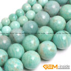 "Natural Brazilian Amazonite Round Beads For Jewelry Making 15"" 6mm 8mm 10mm 12mm"