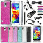 Luxury Bling Aluminum Chrome Hard Case Cover for Samsung Galaxy S5 + Accessories