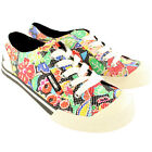 Womens Rocket Dog Jazzin Sugar Flower Lace Up Floral Plimsoll Trainers UK 3-8