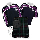 Kilt Outfit 'Sports Essential' - Purple Stripe Rugby Top - MacKenzie