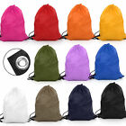 DRAWSTRING BAG SACK BACKPACK RUCKSACK WATERPROOF SWIM SCHOOL SHOES GYM PE DANCE