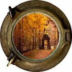 Huge 3D Porthole Enchanted Golden Forest View Wall Stickers Art Decal Wallpaper