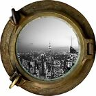 Huge 3D Porthole New York City View Wall Stickers Film Mural Art Decal Wallpaper