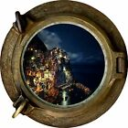 Huge 3D Porthole Enchanted Ocean Bay Night View Wall Stickers Film Art Decal