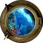 Huge 3D Porthole Shipwreck under sea View Wall Stickers Film Art Decal Wallpaper