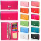 Colorful Women PU Leather Bifold Buckle Long Wallet Clutch Credit Card Purse Han
