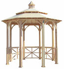 SamsGazebos10' Octagon English Garden Gazebo, Adjustable for an Uneven Patio,New