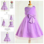 8910 Purples Wedding Party Dresses Bridesmaid Flower Girls Dress AGE SZ 2 to 10Y