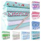 6 X 1M BUNDLE - NEW DESIGNS - POLY COTTON FABRIC floral novelty dot stripe