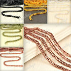 4M Wholesale Iron Curb Chain Link Necklace Jewelry Making Finding 5 Colours