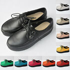 Faux Leather LADIES PLATFORM LACE UP WOMENS FLATS CREEPERS PUNK SHOES  T229-1A