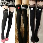 Women Sexy Tattoo Over Knee Tights Leggings Pantyhose Stocking Socks Cat Bear