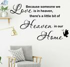 """...Heaven in our home"" Quote Lettering Wall Art Removable Wall Sticker"
