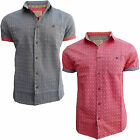 Brave Soul MSH 48 Dynasty Mens New Patterned Short Sleeved Casual Shirt Top
