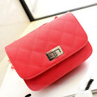 Hot Women's Leather like Chain Small Cross-body Evening Bag Quilted Party Clutch
