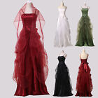 SEXY Spaghetti Straps Elastic Back Ball Gown Evening Prom Party Formal Dress