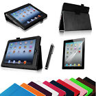 Folio Leather Stand Case Magnetic Smart Wake Cover for iPad 2/3/4 Retina Display