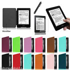 "Leather Cover Case For Amazon All-New Kindle Paperwhite 6"" + Screen Protector"