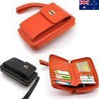 Quality Genuine Leather Ladies Womens Wallet Wristlet iPhone Clutch Purse