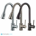 16 Pull Down Kitchen & Bar Sink Faucet - One Hole / Handle
