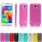 NEW SHIELD S-LINE TPU FLEXIBLE SKIN CASE COVER FOR SAMSUNG GALAXY S5 S 5 + Gift
