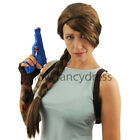 BROWN PLAIT WIG VIDEO GAME MOVIE FILM CHARACTER FANCY DRESS COSTUME ACCESSORY