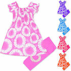 Girls Leggings Gypsy Dress Set Kids Summer Outfit Childrens New Age 2 - 10 Years