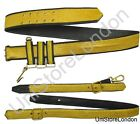 Belt Sword Belt Gold on Black Leather & Sword Sling R1398-1413