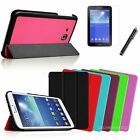 Slim Leather Case Cover/Film/Pen for Samsung Galaxy Tab 3 Lite 7.0 7-inch Tablet