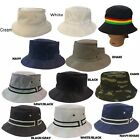 Cotton Twill Summer Bucket Fisherman Camping Hiking Outdoor Packable Fedora Hat