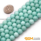 """Sky Blue Jade Stone Round Beads For Jewelry Making Strand 15"""" 4mm 6mm 8mm"""