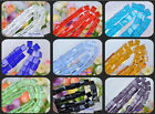 Wholesale 50pcs Charm Glass Square Spacer Beads 6X6mm