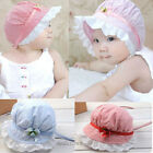 New Summer Baby hats girls baby sun hats sow Cap wide brim kids lace flower hats
