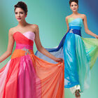 30D Chiffon Long Formal Wedding Evening Party Bridesmaid Dress Gown Multi-Color