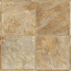 Beige Stone Square Tile Vinyl Flooring, Slip Resistant Cushion Floor Lino 2.8MM