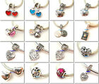 925 Sterling Silver Family Mother Sister CZ Fit European Bead Charm Bracelet