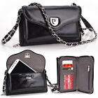 Kroo Womens Designer Genuine Leather Mobile Pochette Wristlet Crossbody Purse P