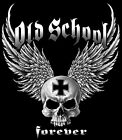 Old School Forever Wings and Skull Motorcycle Biker T Shirt