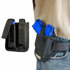 New Barsony Ambi Pancake Holster + Dbl Mag Pouch Paraordnance Compact 9mm 40 45
