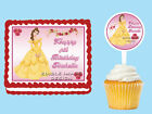 BELLE Beauty and the Beast Edible Cake Topper Cupcake Decoration Birthday Party