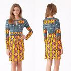 Hale Bob Dress Jersey Printed Size XS-S-M New Yellow Blue Pink Ikat Summer NWT