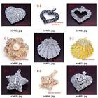 n240m18 Multi Style Shell Star Heart Crystal CZ Rhinestones Pendant Fit Necklace