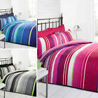 Multi Striped Bedding - Cotton Rich Quilt Cover Contemporary Duvet Cover Bed Set