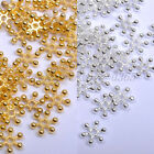 FREE SHIP 100pcs Silver & Golden FLOWER DAISY Spacer BEADS - Choose 6MM,8MM,10MM