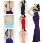 Mermaid Beads Sexy Prom Formal Party Ball Evening Pageant Gowns Wedding Dresses