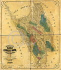 1865 OFFICIAL LAND OWNERSHIP MAP NAPA COUNTY CA
