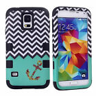 For SAMSUNG GALAXY S5 i9600 SILICON PC LEATHER STYLISH DUSTPROOF SKIN COVER CASE